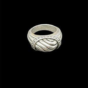 Modernist sterling silver ring